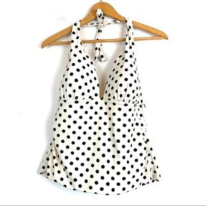 Catalina Swimsuit Top Bikini Large Polka Dot T123